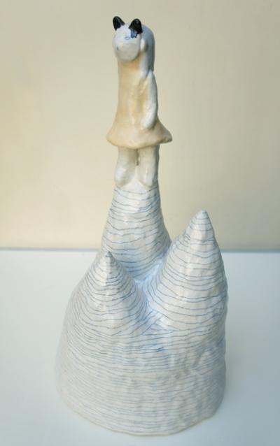 Contemplation, 20x16x43cm, Grès émaillé - sold